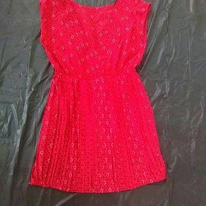 FOREVER 21 Red/Cream Dress